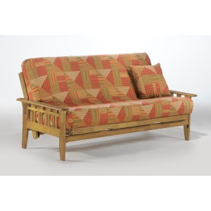 Kingston Full Futon in Honey Oak