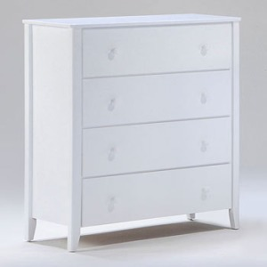 Zest 4 Drawer Dresser in White