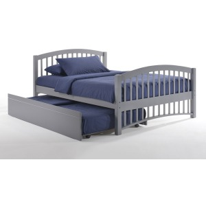 Molasses Twin Trundle Bed in Gray
