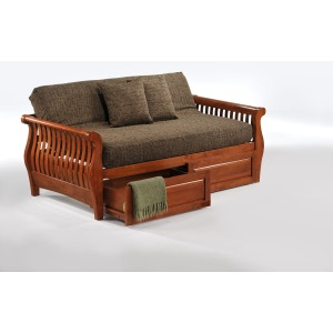 Nightfall Daybed with Storage Drawers in Cherry