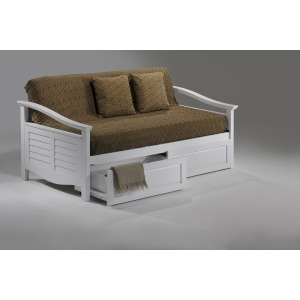 Seagull Daybed with Storage Drawers in White