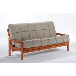 Albany Full Futon in Hickory