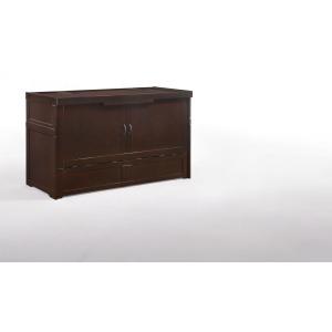 Sagebrush Murphy Cabinet Bed - Chocolate