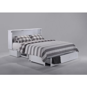 Clover Murphy Cabinet Bed w/Gel Mattress - White