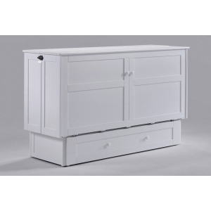 Clover Murphy Cabinet Bed - White Finish