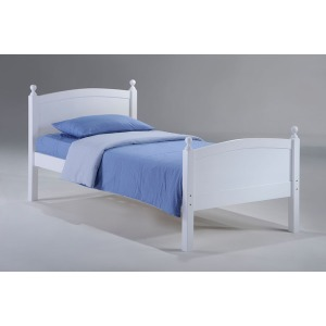 Licorice Twin Bed in White