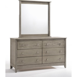 Cape Cod Secrets 6 Drawer Dresser & Mirror in Gray Wash