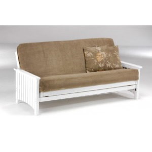 Key West Full Futon w/Mattress- White