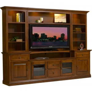 "Clark Wall Unit 60"" Console w/2 Piers"