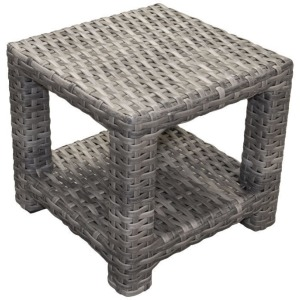 Portfino Square End Table w/Glass