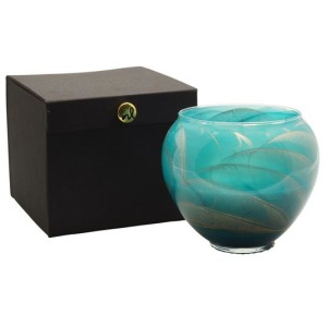 """6"""" Vase - Turquoise Candle"""