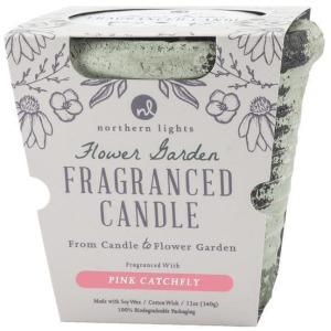 Flower Garden - Pink Catchfly Candle