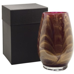 "9"" Filled Vase - Merlot Candle"
