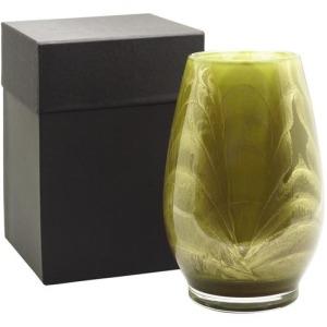 """9"""" Filled Vase - Olive"""