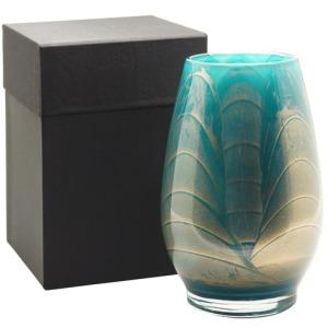 "9"" Filled Vase - Turquoise"