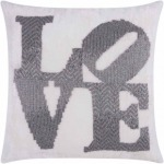 """""""Love"""" Pewter Luminescence Pillow"""