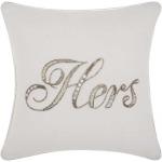 """""""Hers"""" White Kathy Ireland Pillow"""