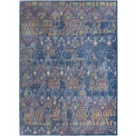 "Ankara Global Navy Multicolor Rug - 5'3"" x 7'6"""