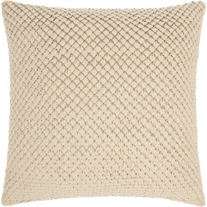 """Couture Natural Hide White  Pillow 20"""" x 20"""""""