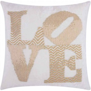 Silver Gold Luminescence Pillow