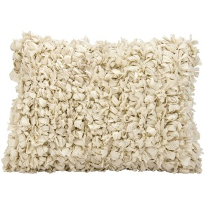 "Shag Beige Pillow 14"" x 20"""