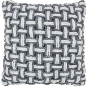 "Life Styles DC475 Grey Throw Pillow - 20"" x 20"""