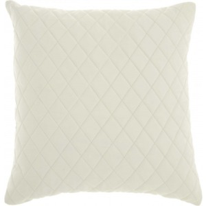 "Ivory Couture Natural Hide Pillow 20"" x 20"""