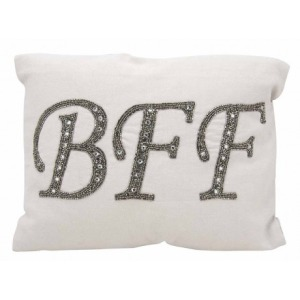 BFF Silver Grey Luminescence Pillow