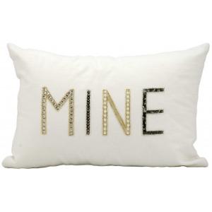 """""""Mine"""" White Kathy Ireland Pillow"""