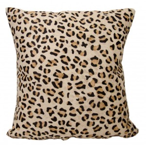 Couture Natural Hide Leopard Pillow