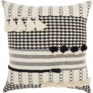 Black White Lifestyle Pillow