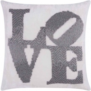 """Love"" Pewter Luminescence Pillow"