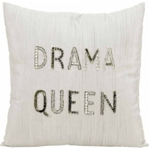 """Drama Queen"" White Luminescence Pillow"
