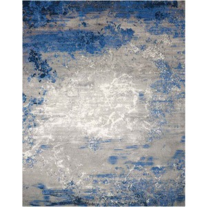 "Twilight Blue Grey Rug - 7'9"" x 9'9"""