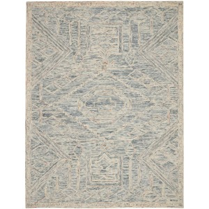 Interlock Blue Multi Rug - 8' x 10'6""