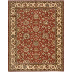 "Living Treasures Rust Rug - 3'6"" X 5'6"""