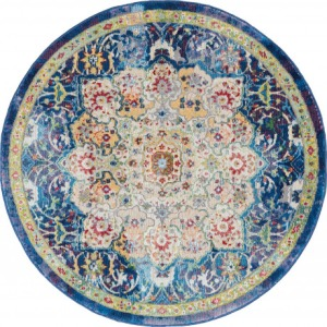 Ankara Global Blue Rug - 6' x 6'