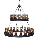 Amelia Pendant Lamp - Black Powder Coat Metal Frame