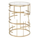 Tiffany Side Table - Brushed Gold Stainless