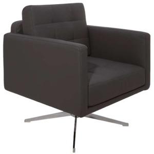 Maxwell Lounge Chair - Black Nauga