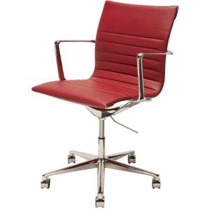 Antonio Office Chair - Deep Red Nauga