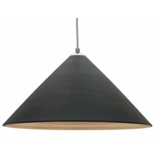 Colette Pendant Lamp - Matte Black / Matte Gold Interior
