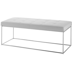 Caen Bench - White / Stainless