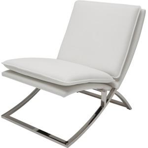 Neo Lounge Chair - Grey Nauga Polished Stainless Steel