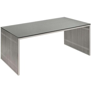 Amici Desk - Brushed Stainless Steel