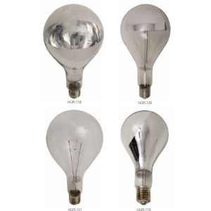 Mogul Light Bulb - Half Chrome Bottom