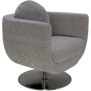 Simone Lounge Chair - Grey Fabric