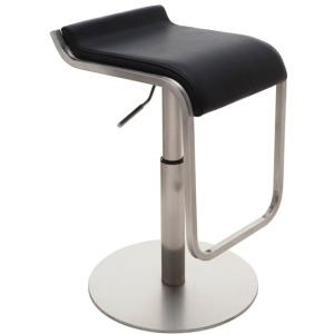 Adora Adjustable Stool - Stainless / Nauga - Black