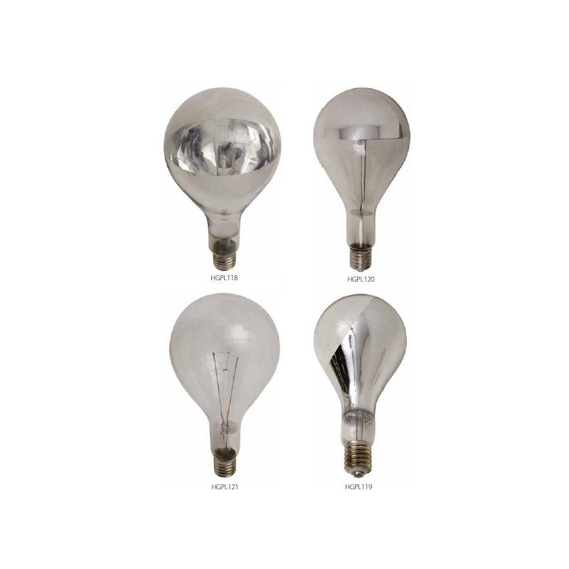 Mogul Light Bulb - Half Chrome Bottom