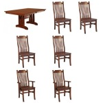 Mission 7PC Dining Set